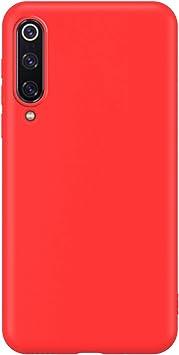 Funda Compatible con Xiaomi Mi A3, Carcasa de Silicona Líquida Gel Ultra Suave y Forro de Gamuza de Microfibra Cojín con Protector de Pantalla Caso Case Móvil para Xiaomi Mi A3(6.088