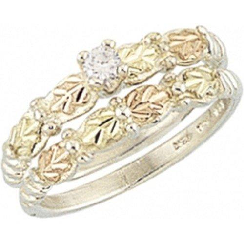 Black Hills Gold Sterling Silver Wedding Set (7)