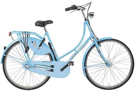 Pegasus Simplex Nostalgie Hollandrad 28 raindropblue RH 50 - Bicicleta de paseo (3 marchas, cambio interno, freno trasero, llantas de acero inoxidable: Amazon.es: Deportes y aire libre