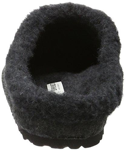 Birkenstock Kaprun Lammfell, Zuecos Unisex Adulto Gris - Grau (Anthracite)