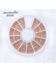 Sindy Rose Gold Nail Steel Ball Nail Metal Caviar Pearls Wheel Design Fashion Nail Studs Tools Design