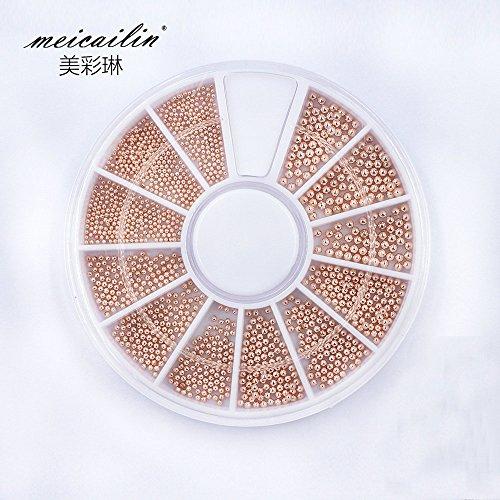 Sindy Rose Gold Nail Steel Ball Nail Metal Caviar Pearls Wheel Design Fashion Nail Studs Tools Design