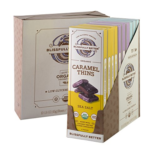 100% Organic Blissfully Better Toffee Thins&Caramel Thins