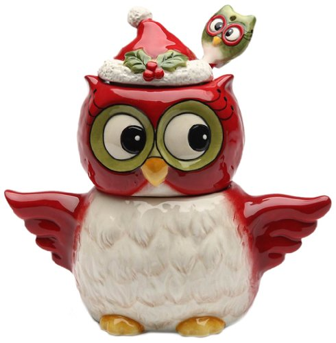 Cosmos Gifts 10909 Owl Design Holiday/Seasonal Sugar and Creamer Set with Spoon, -