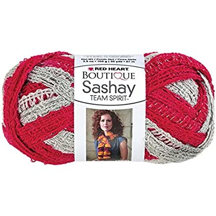 Amazon Red Heart Boutique Sashay Team Spirit Yarn Redgrey