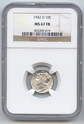 1942 D Mercury Dime MS-67 NGC FB
