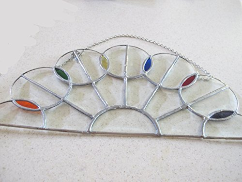 (Half Circle Beveled Glass Panel with a Lollipop Design)