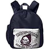 Kid's Cute Grunge Skull Punk Rock Keep Calm School Bags/Packbags For Boys And Girls