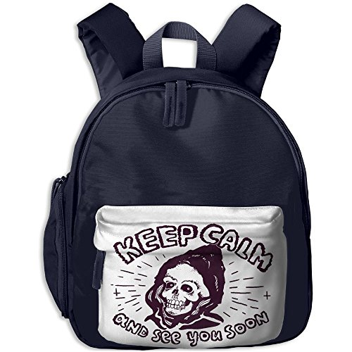 Kid's Cute Grunge Skull Punk Rock Keep Calm School Bags/Packbags For Boys And Girls by LiiLlIiii