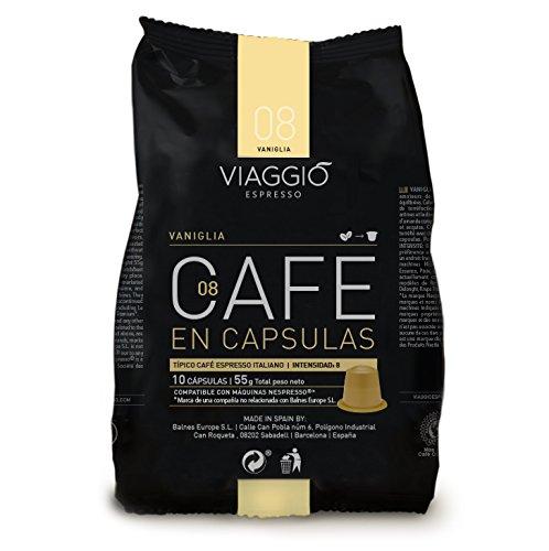 VIAGGIO ESPRESSO - 60 Cápsulas de Café Compatibles con Máquinas Nespresso - VANIGLIA: Amazon.es: Alimentación y bebidas