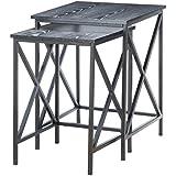 Convenience Concepts 161869BL Tuscon Nesting End Tables, Black