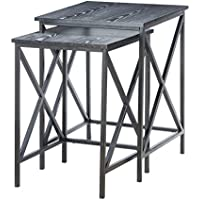 Convenience Concepts 161869BL Tuscon Nesting End Tables, Black