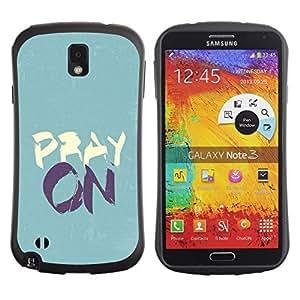 Suave TPU GEL Carcasa Funda Silicona Blando Estuche Caso de protección (para) Samsung Note 3 / CECELL Phone case / / BIBLE Pray On /
