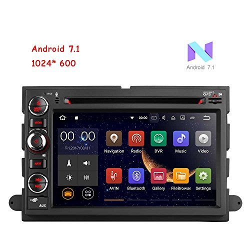 MCWAUTO for Ford F150/F350/Mustang/Edge/Explorer Quad Core In Dash 2 Din Car DVD Player 7inch 1024600 Touchscreen GPS Navigation Radio Receiver Support 3G/Wifi/SWC/Digital TV/DVR/OBD2/DAB+ Rear Camer by MCWAUTO