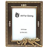 cheetah picture frame - All For Giving Cheetah Picture Frame, 2.5 by 3.5-Inch, Brass
