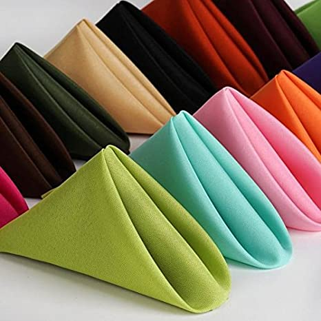 Efavormart Pack of 25 Apple Green Premium 17 x 17 Washable Polyester Napkins Great for Wedding Party Restaurant Dinner Parties