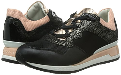 a la deriva mayor Profesor de escuela  Geox Women's D Shahira 22 Fashion Sneaker, Black, 37 EU/7 M US: Amazon.in:  Shoes & Handbags