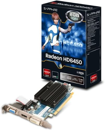 Amazon Com Sapphire Technology Radeon Hd 6450 2gb Ddr3 Pci E Vga Dvi I Hdmi Home Audio Theater