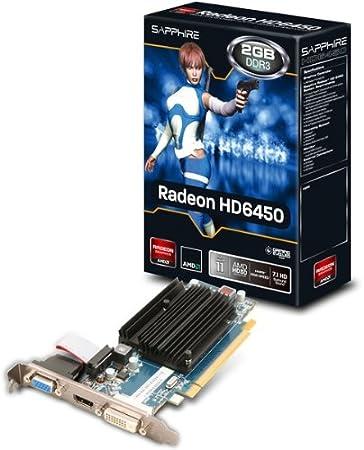 Amazon Com Sapphire Technology Radeon Hd 6450 2gb Ddr3 Pci E Vga Dvi I Hdmi Computers Accessories