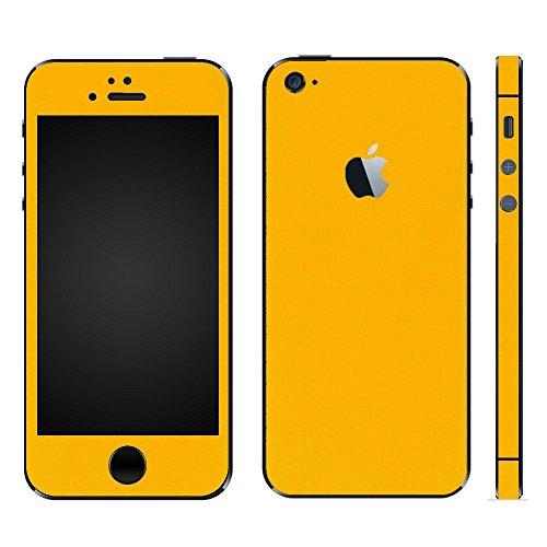 むしゃむしゃ付与ハッピーwraplus for iPhoneSE & iPhone5S/5 [イエロー] スキンシール + 液晶保護フィルム