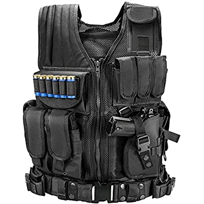 Marmot Tactical Vest Durable Mesh Vest with Detachable Belt & Holster for Subcompact/Compact/Standard Pistol