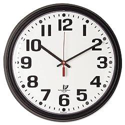 Chicago LightHouse 67700000 Bold Quartz Contract Clock, 13-3/4, Black
