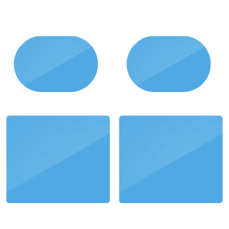 Vococal-1 par de películas de Espejo retrovisor + 1 par de Ventana Lateral Antivaho antirreflejos antivaho Filtros de protección a Prueba de Lluvia para automóviles Camión Remolque Automóvil