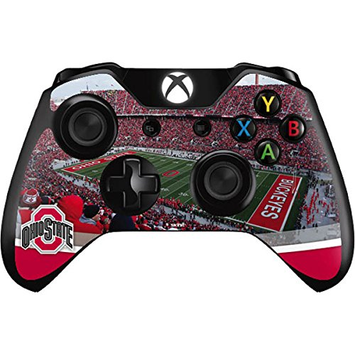 Skinit Ohio State Stadium Xbox One Controller Skin - Officially Licensed Ohio State University Gaming Decal - Ultra Thin, Lightweight Vinyl Decal Protection