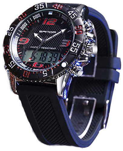 Boys Quartz Electronic Wrist Sport Watch Back Light Casual Business Sports Watches Black by YLJHCYGG (Image #4)
