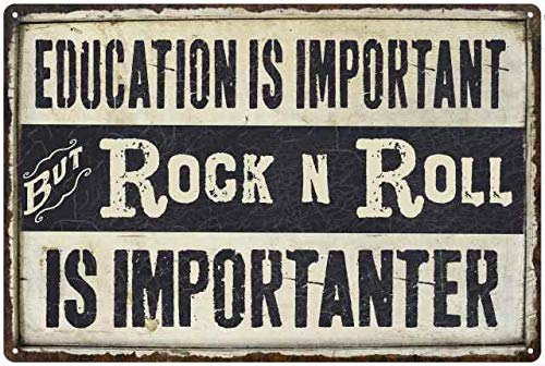 (Chico Creek Signs Rock N ROLL is Importanter 8 x 12 Matte Finish Metal Sign 1081220102052)