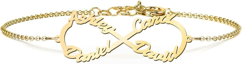 10K Gold Personalized Interlocked in Love Name Bracelet by JEWLR