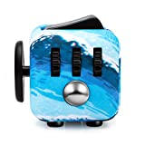 Fidget Dice Anti-anxiety and Depression Cube for Children and Adults (Sea Blue)
