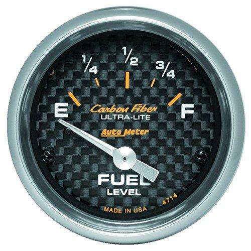 Auto Meter 4714 Carbon Fiber Electric Fuel Level -