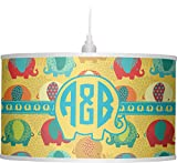 RNK Shops Cute Elephants Drum Pendant Lamp Polyester (Personalized)