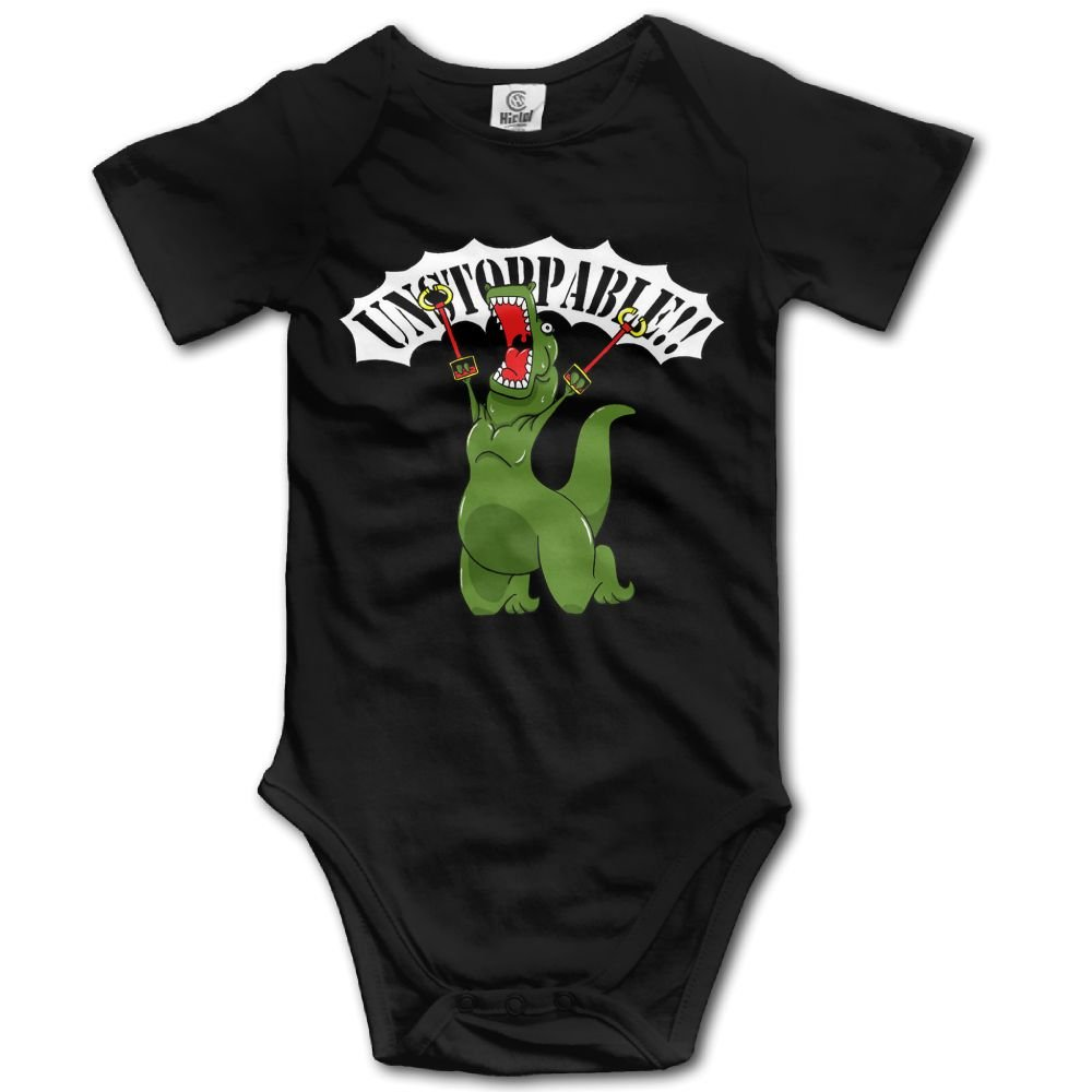 Ojinwangji Unstoppable T-Rex Neutral Baby Short-Sleeved Tights A Summer Dress