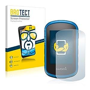 2x BROTECT HD-Clear Protector Pantalla Garmin eTrex Touch 35 Película Protectora - Transparente, Anti-Huellas