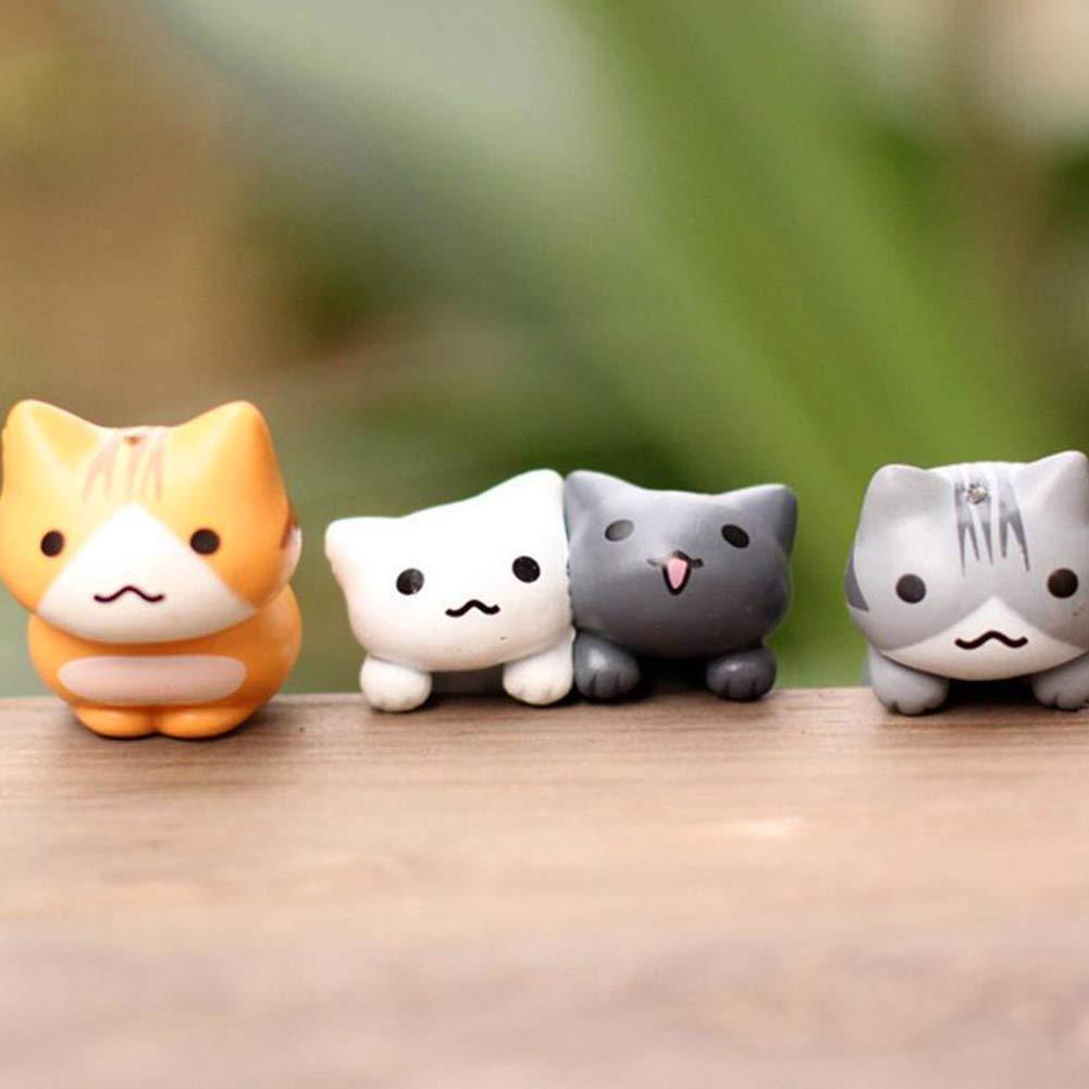 Figur Modell Fee Garten Landschaft Garten Bonsai Decor Kinder Spielzeug Mini Katze Puppe 6 St/ück Mini Puppe Katze Ruiting Miniatur Katze
