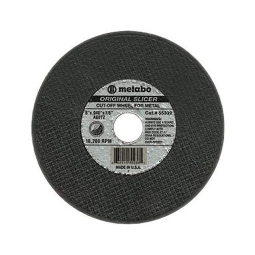 6 Diameter 36 Grit Aluminum Oxide 0.045 Thick Metabo 55344 Slicer Cutting Wheel