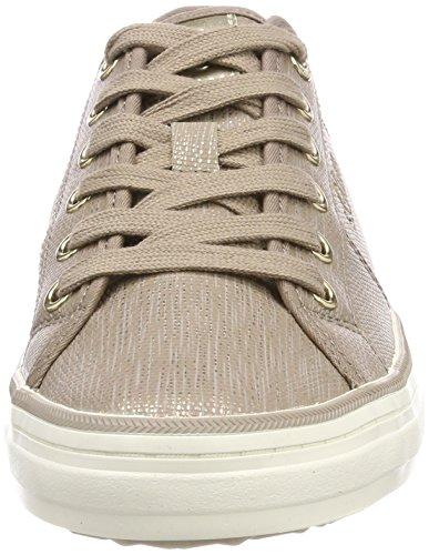 s.Oliver Damen 23640 Sneaker braun (pepper/gold)