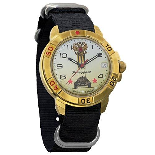 Vostok Komandirskie Russian Tank Troops Mechanical Mens Military Commander Wrist Watch #439943 (Russian Wrist Mechanical Watches)