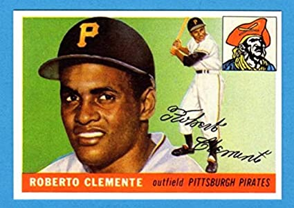 Roberto Clemente 1955 Topps Reprint Rookie Card Pirates At