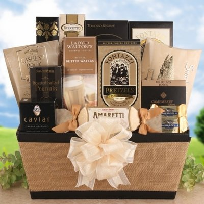 Holiday Grande Elegant Gourmet Holiday Gift Basket by Organic Stores