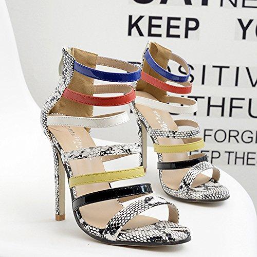 sandali Tacco europei at UE americani RUGAI scarpe misura su e alto C6q7xnxwt