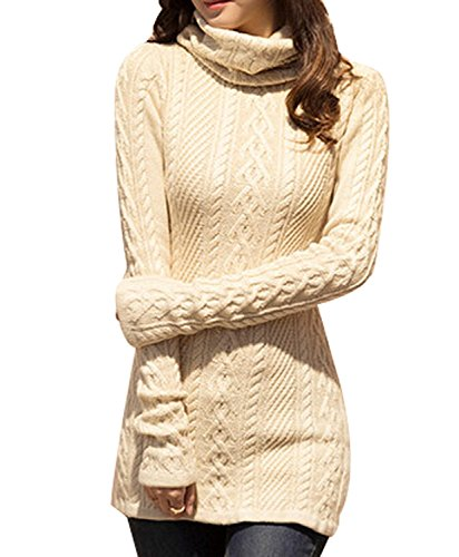 UQ High Neck Knit Warm Long Sweater by UQ
