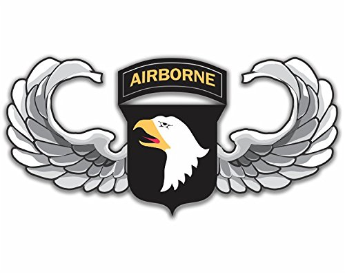 Military Vet Shop US Army 101st Airborne Jump Wings Window Bumper Sticker Decal 3.8