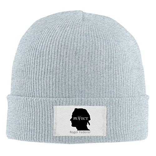 Tom Sapira Neutral Beanie Hat,Ro-ger Fede-RER Knit Warm Solid Color Hat Gray