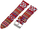 Voguestrap TX2254 22mm Cloth Multi-Color Watch Strap