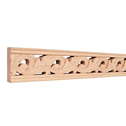 Hand Carved Moulding - 8 ft  Length (Maple) - Wood Moldings And