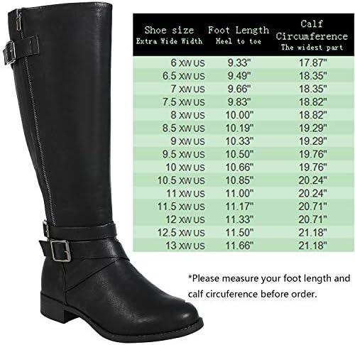 Knee High Wide Calf Boots Wide Width