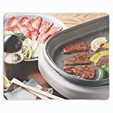 Mouse Pad Quality Comfortable Mousepad with Nonslip Rubber Base Computer Gaming Mouse Pad with Meat Multicookings Food Useful Mouse 11.8X9.85